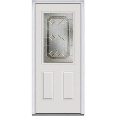 Decorative Replacement Glass For Front Door by Milliken Millwork 34 In X 80 In Majestic Elegance