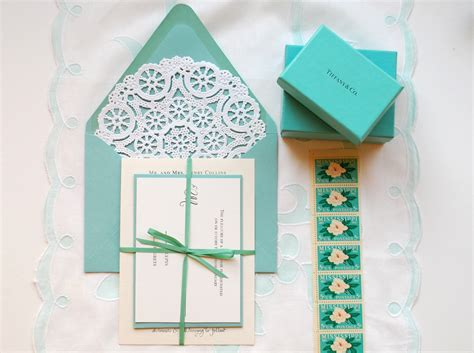 Tiffiny Blue Wedding Invitation Paper by Diy Quot Blue Box Quot Inspired Rubber St Wedding