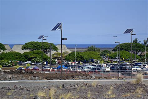 solar powered parking lot lights solar powered parking lot lights at kona airport
