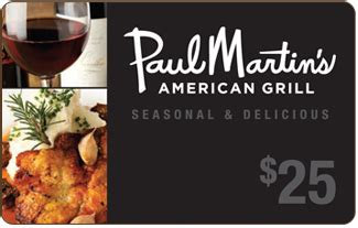Martins Gift Cards - gift cards paul martin s american grill
