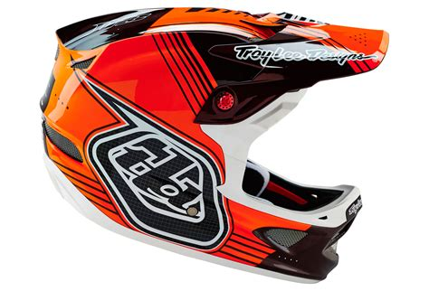 troy lee design helmet troy lee designs 2016 helmet d3 carbon orange black