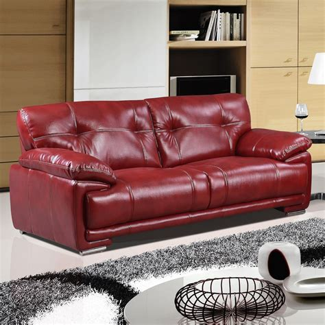 leathaire sofa links leathaire 100 real leather alternative red fabric