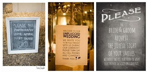 Unplugged Wedding Announcement by Wediquette And Unplugged Weddings