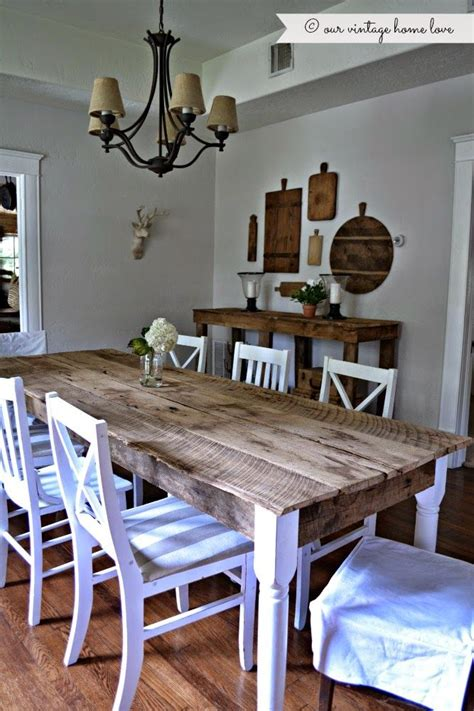 Barn Style Dining Room Table by Fresh And Rustic Finish Barn Wood Mixed With New Wood