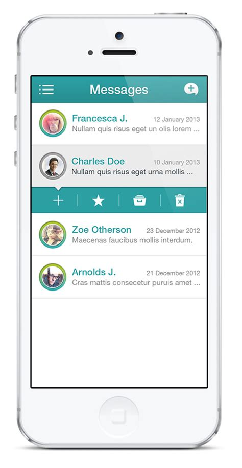 ui pattern messages 50 beautiful mobile ui design with amazing user experience