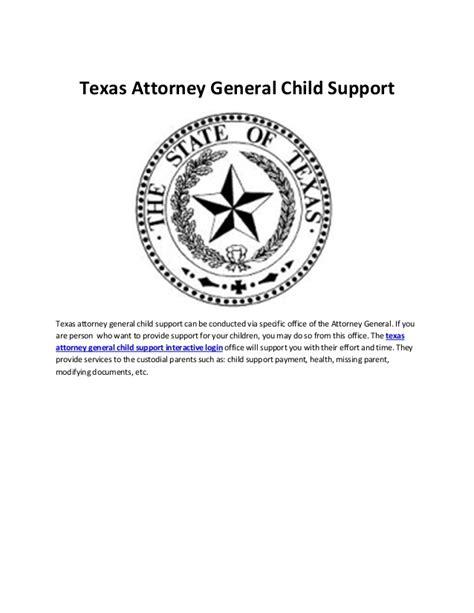 attorney general child support