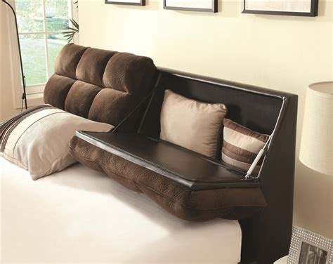 tilley upholstered bed with storage headboard by