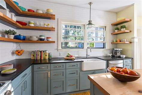design for kitchen shelves reclaimed open shelving farmhouse kitchen