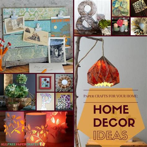 paper craft home decor paper crafts for your home 24 home decor ideas