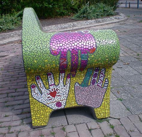 mosaic bench mozaiek bank 2 mosaics bench and mosaic madness