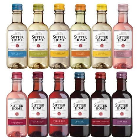 sutter home mini bottles 187ml are the addition