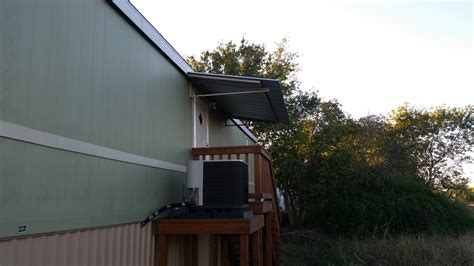 attach awning to house front and back awning with carport attached to mobile home