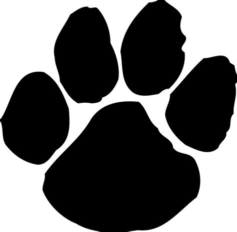 tiger paw template tiger paw print stencil clipart best