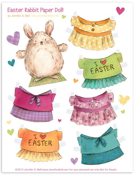 printable paper easter crafts easter rabbit paper doll printables 4 mom