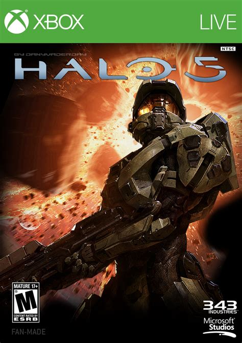 fan made halo game halo 5 fan made box art by danyvaderday on deviantart