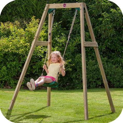 in swing wooden single swing set free delivery outdoor playground