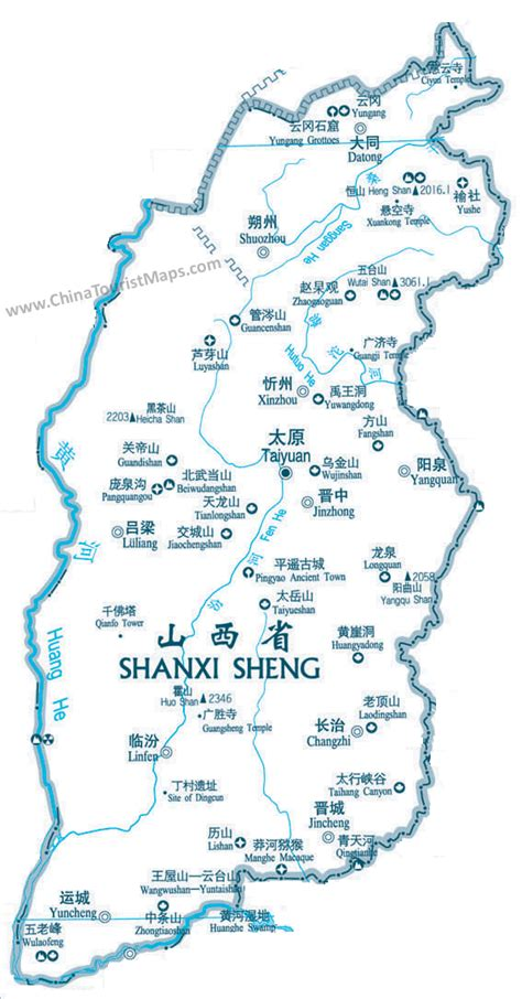 shanxi sites location map