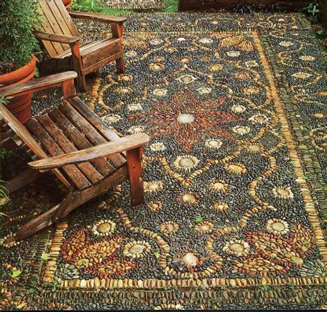 Best Outdoor Rugs Patio by 17 Best Ideas About Pebble Mosaic On
