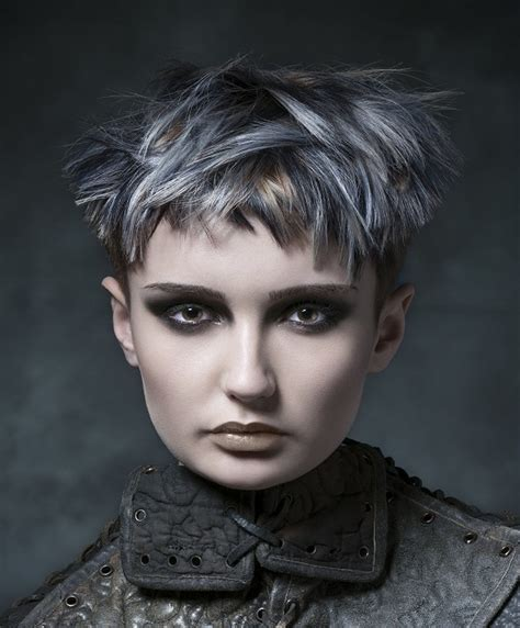 A Short Grey hairstyle From the Valkyrie Collection by D&J