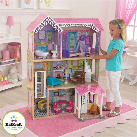 barbi doll house kidkraft sweet pretty wooden kids dolls house furniture fits barbie dollhouse ebay