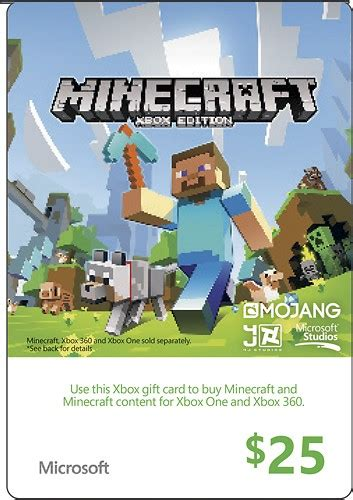 Minecraft Gift Cards Now Available In The Us News Mod Db - microsoft 25 xbox gift card green xbox live minecraft 2014 25 best buy