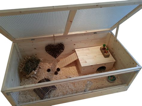 Guinea Pig House by Large 120x60cm Wood Guinea Pig Cage