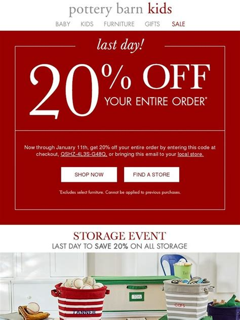 Where Are Pottery Barn Gift Cards Sold - pottery barn kids last day your 20 off expires today milled