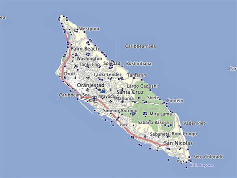 printable aruba road map gpstravelmaps com october 2013