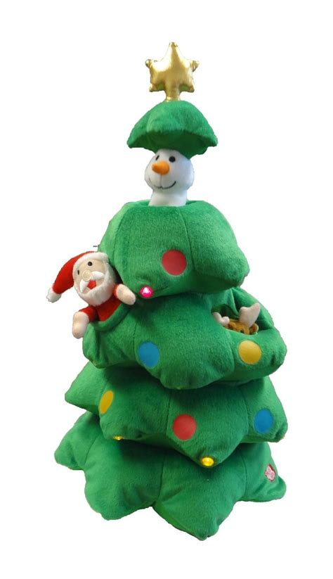 singing christmas tree animated plush toy musical reindeer