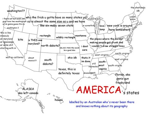 map us labeled a map of the united states as labeled by an australian