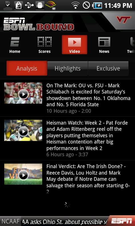 espn android app android app review espn bowl bound android central