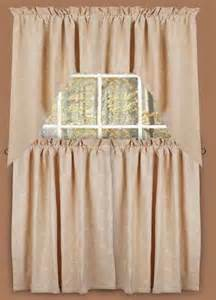 Country Window Curtains Tier Curtains Tiers Candlewicking Primitive Country Rustic Window Treatment Embroidered