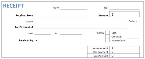 Paid Receipt Template Pdf by Knowing More About Receipt Template 231