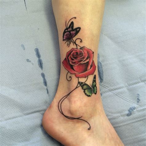 rose and butterfly tattoos the 25 best ideas about and butterfly on