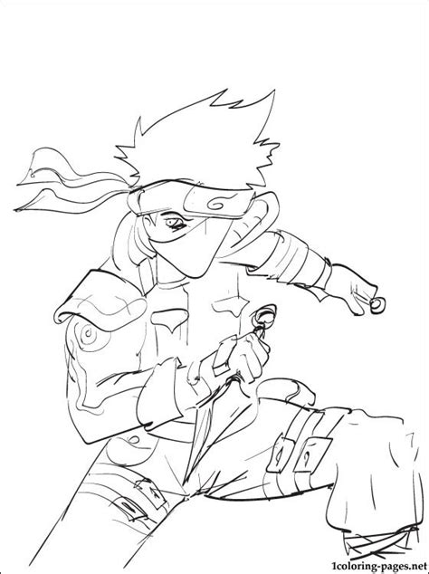 anime coloring pages naruto kakashi hatake naruto coloring page coloring pages
