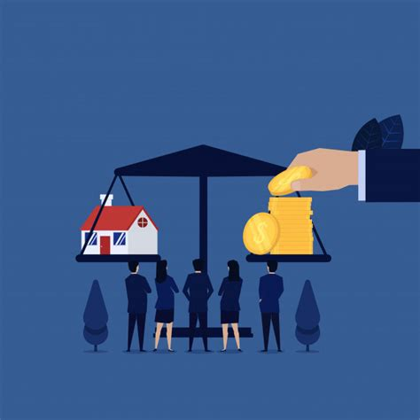business team  home loan  balance  coins vector