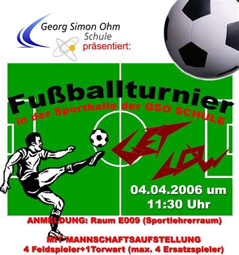 Muster Einladung Fußballturnier Sport Ag