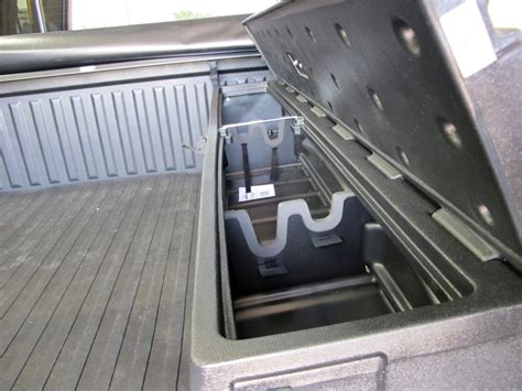truck bed storage du ha humpstor truck bed storage box and gun case side