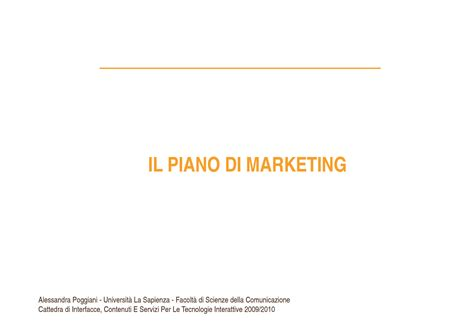 dispensa marketing piano marketing dispense