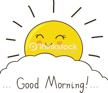 happy sun wishes  good morning stock vector thinkstock