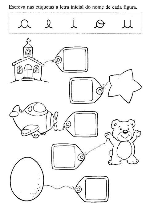 20 Atividades com Letra Inicial das Figuras para Imprimir