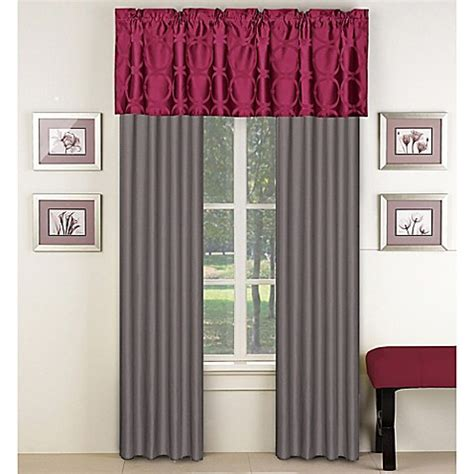 red bathroom window curtains aryn window treatments in red grey bed bath beyond