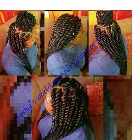 Jumbo More Black jumbo rope twist xpression hair hair she comes