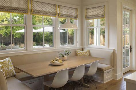 modern farmhouse breakfast nook banquette seating