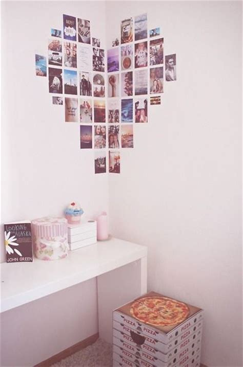 collage ideas for bedroom wall bedroom inspiration diy heart collage tumblr room room