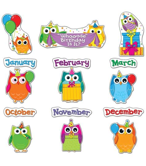 printable owl birthday chart best 25 birthday bulletin ideas on pinterest birthday