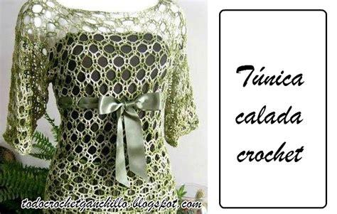 patrones de t nica calada tejida con ganchillo todo crochet