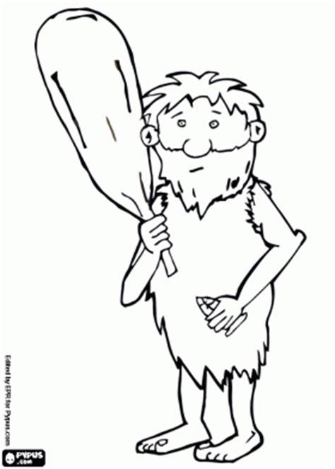 early humans coloring page ollade la prehistoria dibujos para colorear