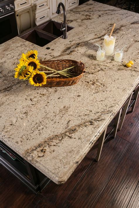 Pics Of Marble Countertops by Beautiful Beige Granite Countertops In Kitchen