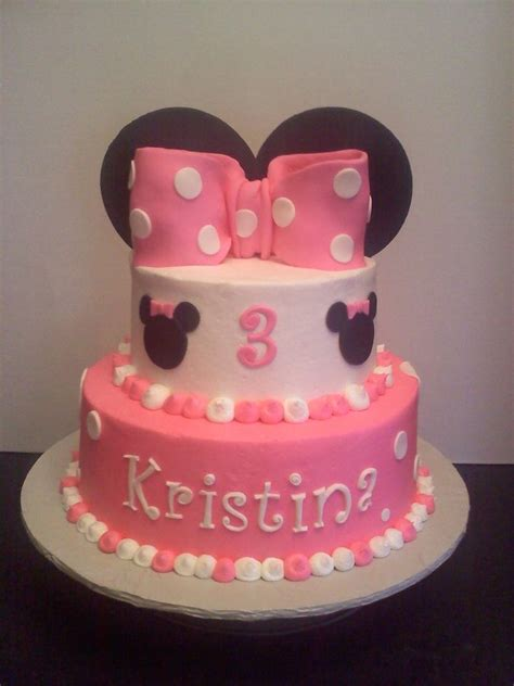 Pin Assembling Multi Tiered Cakes Minnie Mouse Two Tier Cakes Two Tier 6 Quot 9 Quot Marble With Chocolate Bc Filling Vanilla Bc